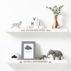 Personalised Adventure Shelf - children's room