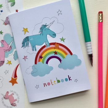 Unicorn Notebook Party Bag Filler Or Stocking Filler