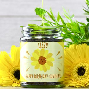 Personalised Happy Sunflower Jar