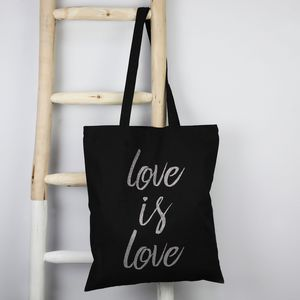 'Love Is Love' Cotton Tote Bag