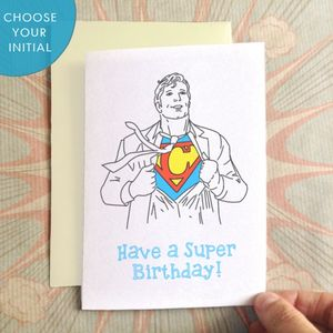 Personalised Heroic Birthday Card