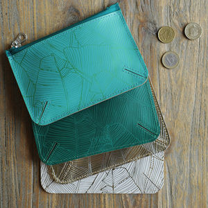 Undercover Leather Palm Pattern Coin Purse