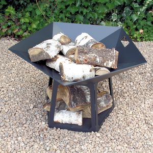 Personalised Steel Star Firepit - 10th anniversary: tin