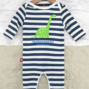 Personalised Dinosaur Babygrow - clothing