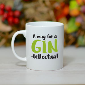 'Gin Tellectual Mug' - tableware