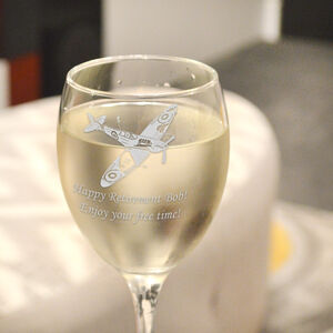 Spitfire Personalised Wine Glass