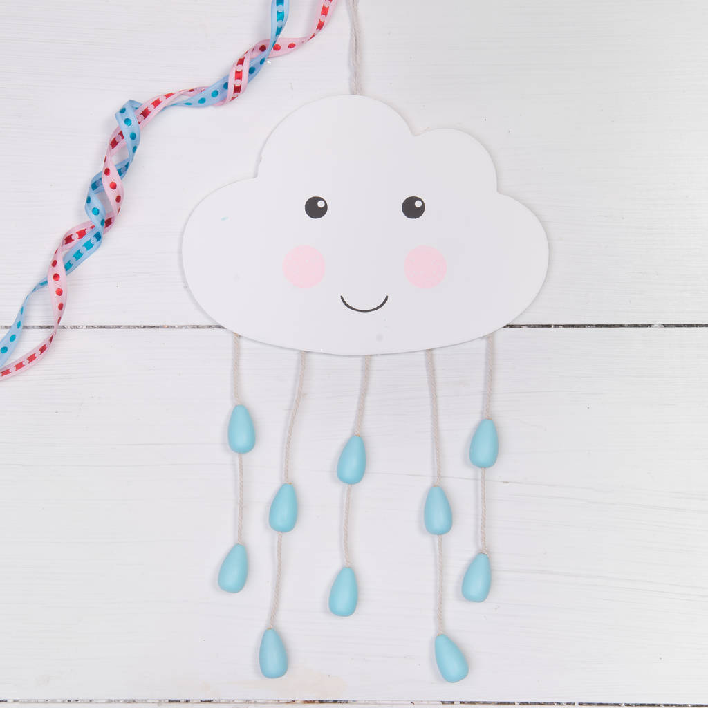 Cute Cloud Face Wall Hanging