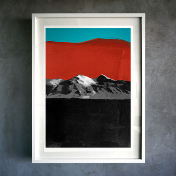 Fire Mountain. Fine Art Giclée Print