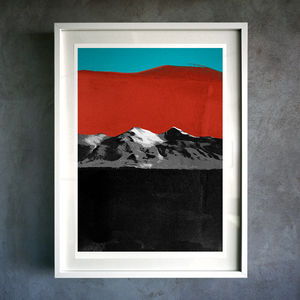Fire Mountain. Fine Art Giclée Print - nature & landscape