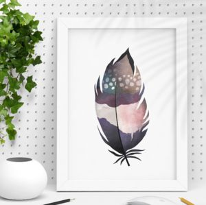 Decorative Illustration Watercolour Feather Print