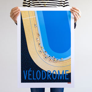 Cycle Print, Track Cycling Race Art, Velodrome