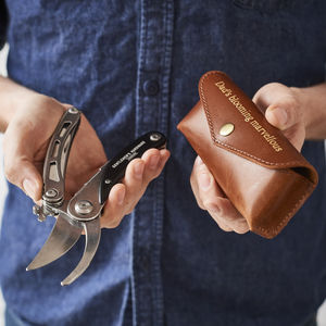 Gardening Tool And Leather Holder For Dads - gifts for grandads