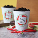 Personalised Ring Of Fire Plant Pot With Chilli Seeds