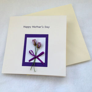 Mothers Day Birthday Card With Pink Roses - mother's day cards & wrap