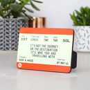 Personalised Wooden Train Ticket