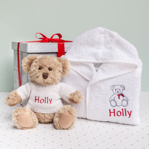 Bertie Bear's Christmas Bathrobe Set