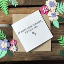 Mothers Day 'If Mums Were Flowers' Paper Cut Card