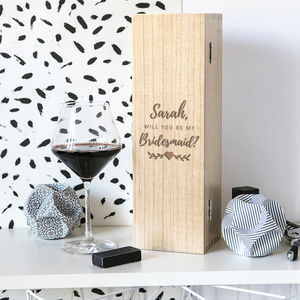 Personalised Will You Be My Bridesmaid Engraved Gift - kitchen