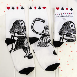 Alice In Wonderland Socks - women's fashion