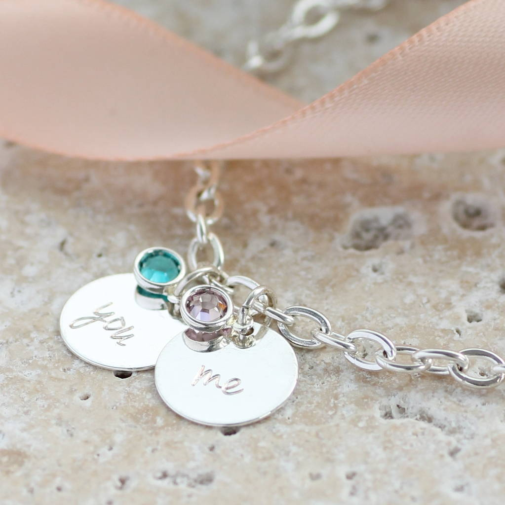 You And Me Birthstone Charm Bracelet