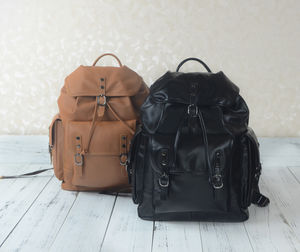 Personalised Genuine Leather Backpack With Front Pocket - whats new
