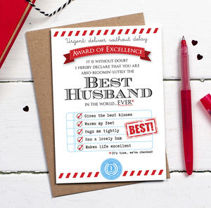Best Husband Card