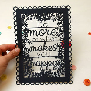 A5 Happy Papercut - winter sale