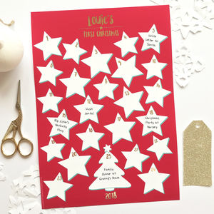 Personalised Foiled First Christmas Advent Calendar - advent calendars