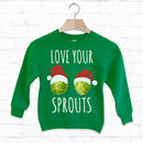Love Your Sprouts Kids Christmas Sweatshirt