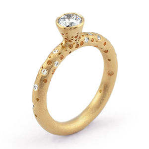 18ct Gold Solitaire Diamond Ring - engagement rings