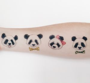 Panda Temporary Tattoo - temporary tattoos