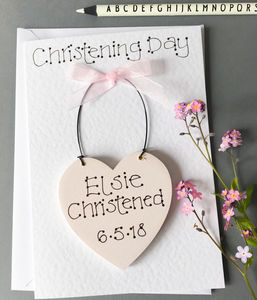Keepsake Christening Card - personalised