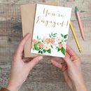 Floral Engagement Card