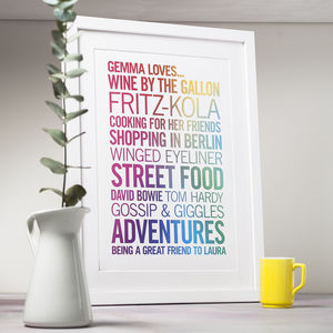 Personalised Rainbow Loves Print - posters & prints