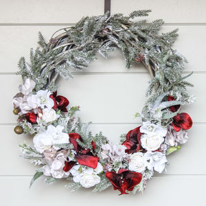 The Rose And Orchid Christmas Wreath - wreaths