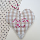 Gingham Couple's Name Cushion
