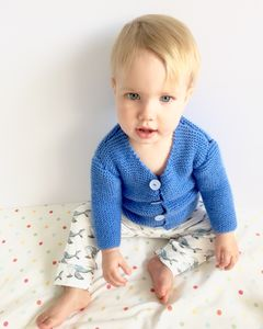 Aster Blue Knitted Cardigan - clothing