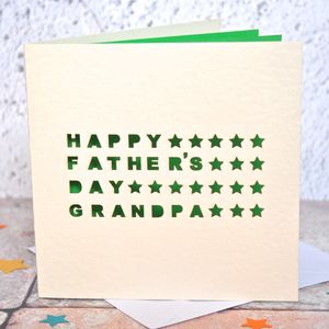 Personalised Laser Cut Grandpa Father's Day Card - cards for grandfathers