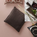 Velvet Chocolate Brown Square Cushion