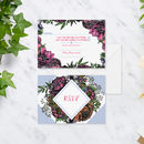 Meadow Floral Wedding R.S.V.P Cards Pack Of 10