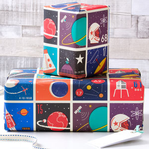 Space Inspired Gift Wrap And Ribbon - sewing & knitting