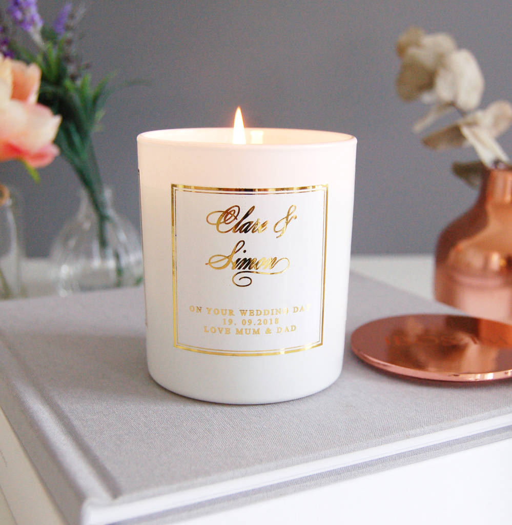 Wedding Gift Candles: Personalised Wedding Gift Candle Soy Wax By The Luxe Co