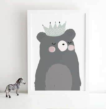 King Bear Scandinavian Children's Print