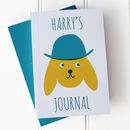 Personalised Notebook 'Cute' Dog In Hat