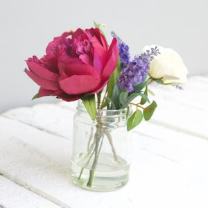 Artificial Peony And Rose Bouquet