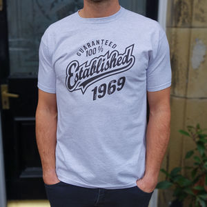 Established 1969 50th Birthday Gift T Shirt
