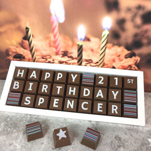 Personalised 21st Birthday Chocolate Box
