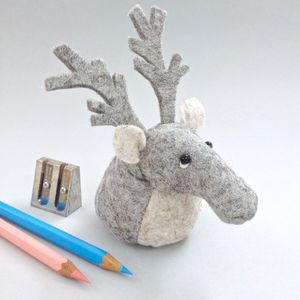 Handmade Collectible Reindeer Paperweight - decorative accessories