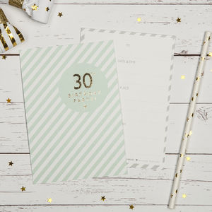 30th Birthday Party Invites - adults party invitations