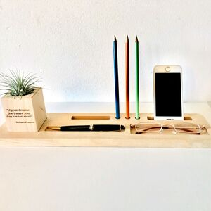 Personalised Modern Desk Organiser With A Twist